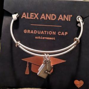 Alex and Ani  Graduation Cap Charm Bracelet